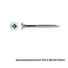100x Spaanderplaatschroef VZK-Z 6x100mm Zn - PGB
