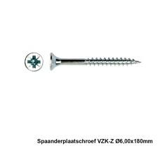 100x Spaanderplaatschroef VZK-Z 6x180mm Zn - PGB