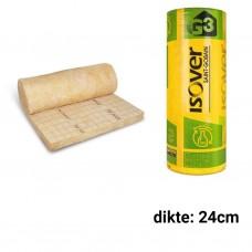 Glaswol 24cm dik 2000x1200mm Rd:6,85 (=2,40 m²) Isoconfort 35