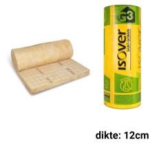 Glaswol 12cm dik 3900x1200mm Rd:3,40 (=4,68 m²) Isoconfort 35