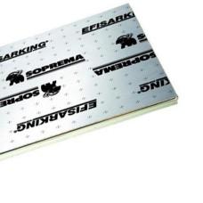 PIR 2-zijdig Aluminium 12cm dik 2410x1200mm Rd:5.55 10pl/pak (=28,90 m²) Efisarking