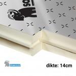 PIR Spouwplaat 1200x600x140mm Rd:6,50 3pl/pak (=2,16 m²) - Sopratherm ALU
