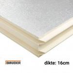 PIR Spouwplaat 1200x600x160mm Rd:7.25 3pl/pak (=2,16 m²) - Bauder