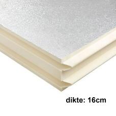 PIR Spouwplaat 16cm 1200x600mm Rd:7.25 3pl/pak (=2,16 m²) Bauder