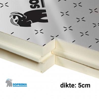 PIR Spouwplaat 1200x600x50mm Rd:2,30 10pl/pak (=7,20 m²) - Sopratherm ALU