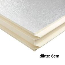 PIR Spouwplaat 6cm 1200x600mm Rd:2.70 8pl/pak (=5,76 m²) Bauder
