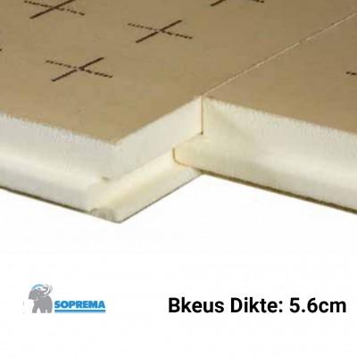 PUR Isolatieplaten Bkeus 1200x1000x56mm Rd:2,60 7pl/pak (=8,40 m²) - TMS Soprema