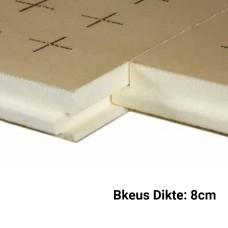 PUR Isolatieplaten 8cm Bkeus 1200x1000mm Rd:3,70 5pl/pak (=6,00 m²) - TMS Soprema