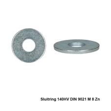 200x Sluitring 140HV DIN 9021 M 8 Zn - PGB