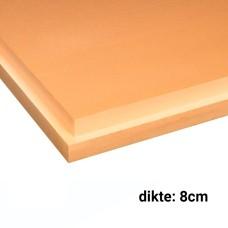 XPS Isolatieplaten 8cm dik 1250x600mmRd:2.20 5pl/pak (=3,75 m²) SL Soprema