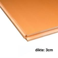 XPS CW Isolatieplaten 3cm dik 2500x600mm Rd:0,90 14pl/pak (=21 m²) Soprema